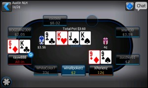 Poker 5 highest cards